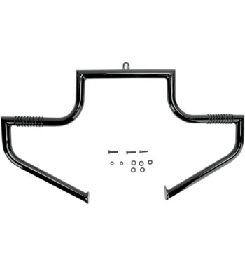 ENGINE GUARD LINDBY LINBAR BLACK HARLEY DAVIDSON FLH TOURING '97-'16