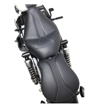 "LEATHER PILLION 9"" PAD COMFORT PASSENGER DOMINATOR WITH GEL MEDIUM PAD W/SUCTION CUPS HARLEY DAVIDSON AND CUSTOM MOTORCYCLE"