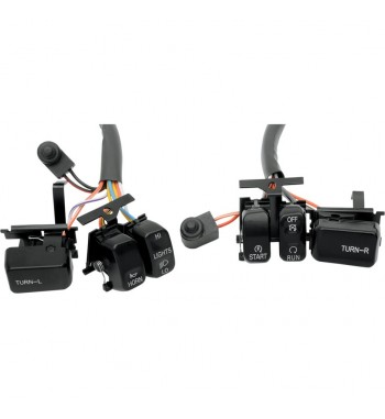 BLACK SWITCH KIT FOR HANDLEBAR CONTROL HARLEY DAVIDSON '96-'13