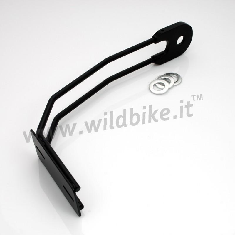 Rear Tire License Plate Holder Black For Motorcycle Custom