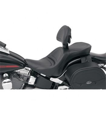 EXPLORER COMFORT GEL SEAT W/BACKREST FOR HARLEY DAVIDSON FXST/FLST SOFTAIL '06-'17