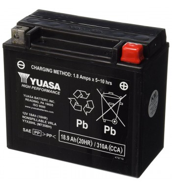 BATTERY YUASA ORIGINAL HIGH PERFORMANCE MAINTENANCE FREE YUAM720BH FOR HARLEY DAVIDSON