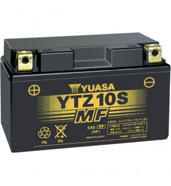 BATTERY YUASA ORIGINAL HIGH PERFORMANCE MAINTENANCE FREE YTZ10S FOR MOTORCYCLE