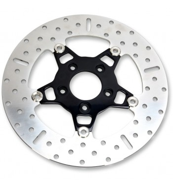 FRONT BLACK BRAKE ROTOR FLOATING WIDE ROUND EBC FOR HARLEY DAVIDSON BIG TWIN/TWIN CAM '00-'14
