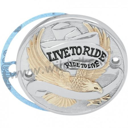 "POINT COVER ""LIVE TO RIDE"" GOLD HARLEY BIG TWIN E SPORTSTER"