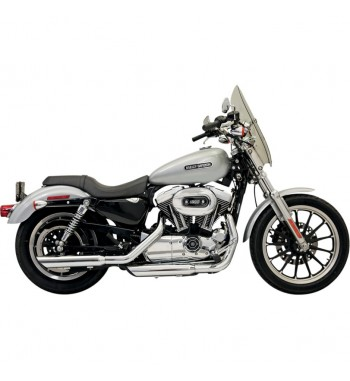 "3"" FIREPOWER SERIES SLIP-ON MUFFLERS SLIP ON SLASH DOWN CHROME HARLEY DAVIDSON SPORTSTER '04-'13"