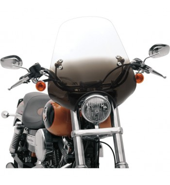 CLASSIC DEUCE WINDSHIELD 47 CM. GRADIENT BLACK FOR HARLEY DAVIDSON XL SPORTSTER  '88-'17