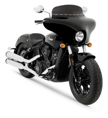 PARABREZZA CARENATURA BATWING FAIRING NERA PER INDIAN SCOUT '15-'17