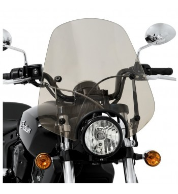 DEL RIO WINDSHIELDS SPORTSHIELD TRANSPARENT SOLAR FOR INDIAN SCOUT '15-'18