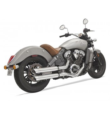 "SCARICHI MARMITTE BASSANI SLIP-ON CLASSIC 3"" SLASH CUT CROMATI PER INDIAN SCOUT '15-'17"