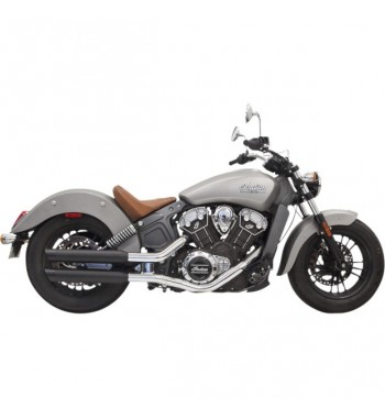 "SCARICHI MARMITTE BASSANI SLIP-ON CLASSIC 3"" SLASH CUT NERI PER INDIAN SCOUT '15-'17"