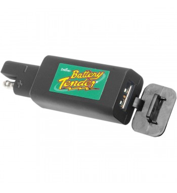 SINGLE PORT USB CHARGER UNIVERSAL BLACK FOR CUSTOM MOTORCYCLE AND HARLEY DAVIDSON