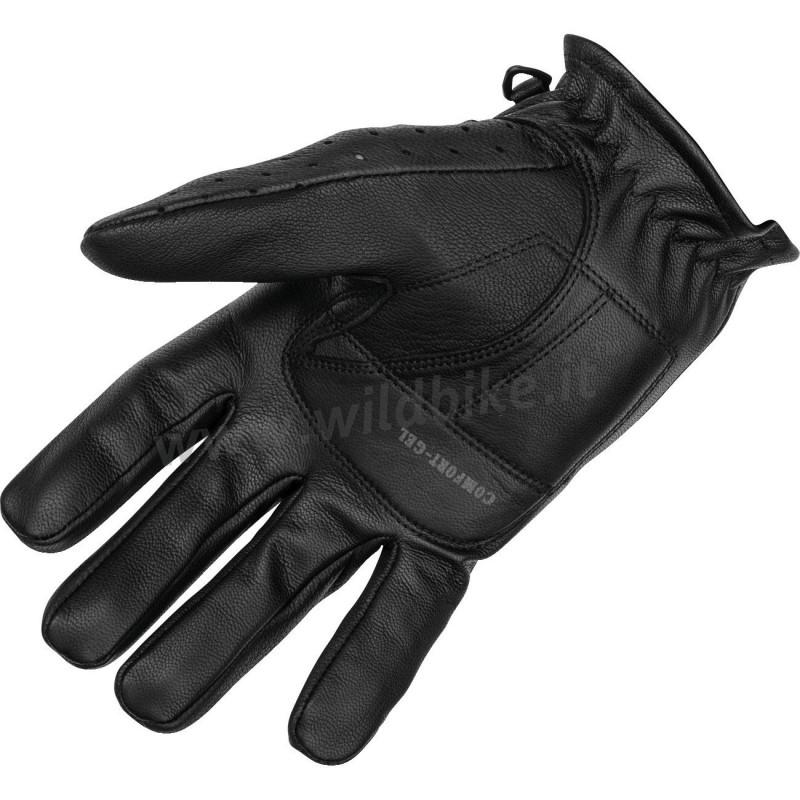 herren leder handschuhe schwarzen mit gel knuckle f r motorrad. Black Bedroom Furniture Sets. Home Design Ideas
