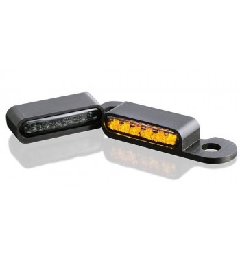 MINI BLACKS TURN SIGNALS LED EU APPROVED FOR HANDLEBAR HARLEY DAVIDSON XL SPORTSTER '96-'13