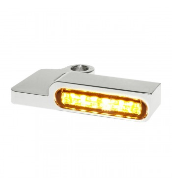 MINI CHROME TURN SIGNALS LED EU APPROVED FOR HANDLEBAR HARLEY DAVIDSON XL SPORTSTER '96-'13