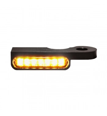 MINI BLACKS TURN SIGNALS LED EU APPROVED FOR HANDLEBAR HARLEY DAVIDSON FXD DYNA '96-'17