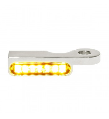 MINI CHROME TURN SIGNALS LED EU APPROVED FOR HANDLEBAR HARLEY DAVIDSON FXD DYNA '96-'17
