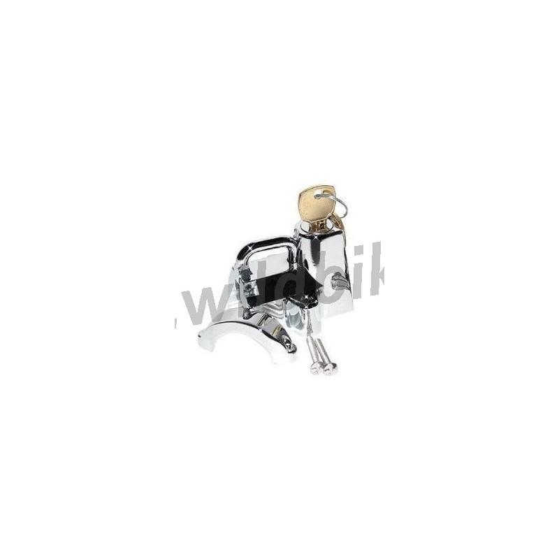 bici gancio da appendere con 2 chiavi Serratura universale in acciaio inox per casco da moto moto casco