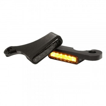 MINI BLACKS TURN SIGNALS LED EU APPROVED FOR HANDLEBAR HARLEY DAVIDSON SOFTAIL M8 2017-2018