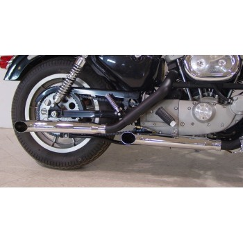 "MUFFLERS EXHAUSTS SLIP ON  3"" SLIP-ON TURN OUT CHROME FOR HARLEY DAVIDSON XL SPORTSTER '88-'03"
