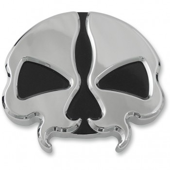 CHROME SPLIT SKULL GAS CAPS FOR HARLEY DAVIDSON XL SPORTSTER '96-'17