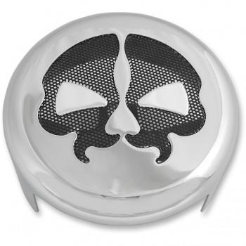 HORN COVER SPLIT SKULL CHROME/BLACK FOR HARLEY DAVIDSON XL SPORTSTER AND TWIN CAM