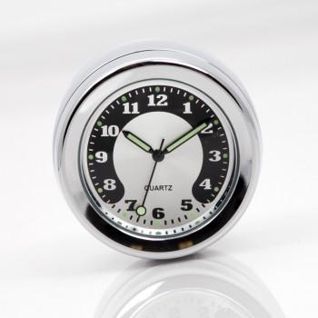 "Drag Specialties Chrome 1 1//4/"" Handlebar Clock for Harley Davidson"