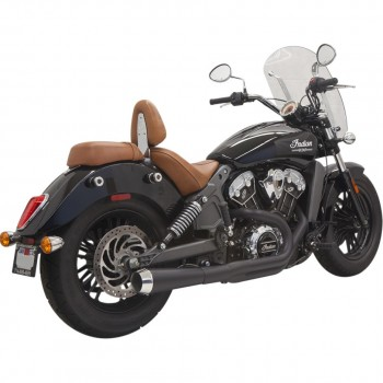 EXHAUST 2-INTO-1 SYSTEMS BASSANI ROAD RAGE BLACK FOR INDIAN SCOUT '15-'18