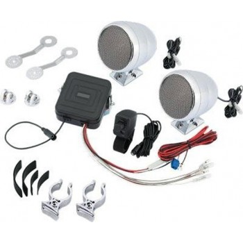 STEREO AUDIO SYSTEM SC COMPACT 40W CHROME FOR MOTORCYCLE AND HARLEY DAVIDSON