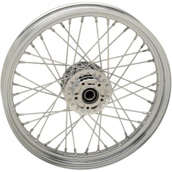 """WHEELS REPLACEMENT LACED FRONT 40 SPOKES 19"""" x 2.5"""" CHROME FOR HARLEY DAVIDSON FXD DYNA '12-'17"""