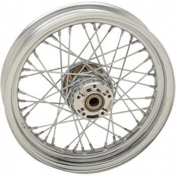"WHEELS REPLACEMENT LACED FRONT 40 SPOKES 16"" x 3"" CHROME FOR HARLEY DAVIDSON TOURING '08-'17"