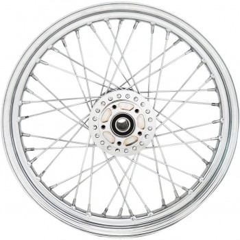 """WHEELS REPLACEMENT LACED FRONT 40 SPOKES 19"""" X 2.5"""" ABS CHROME FOR HARLEY DAVIDSON XL SPORTSTER '08-'18"""