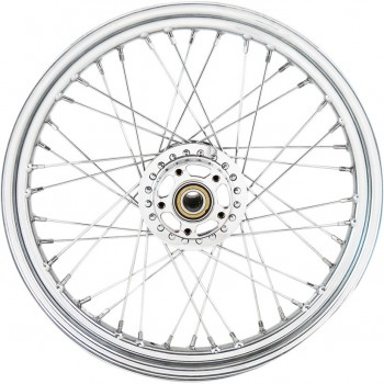 """WHEELS REPLACEMENT LACED FRONT 40 SPOKES 19"""" X 2.5"""" ABS CHROME FOR HARLEY DAVIDSON XL SPORTSTER '14-'18"""