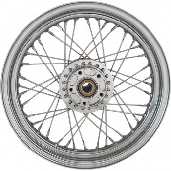 "WHEELS REPLACEMENT LACED FRONT 40 SPOKES 16"" X 3"" W/O ABS CHROME FOR HARLEY DAVIDSON XL SPORTSTER '10'-18"