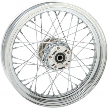 "WHEELS REPLACEMENT LACED REAR 40 SPOKES 16"" X 3"" CHROME FOR HARLEY DAVIDSON FXST/FLST SOFTAIL '00-'06"