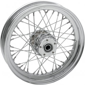 "WHEELS REPLACEMENT LACED REAR 40 SPOKES 16"" x 3"" CHROME FOR HARLEY DAVIDSON TOURING '02-'07"