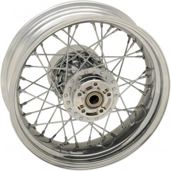 "WHEELS REPLACEMENT LACED REAR 40 SPOKES 16"" x 5"" CHROME FOR HARLEY DAVIDSON TOURING '09-'18"
