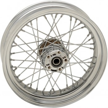 "REAR WHEELS REPLACEMENT LACED 40 SPOKES 17""x 4.5"" ABS CHROME FOR HARLEY DAVIDSON FXD DYNA '12-'17"