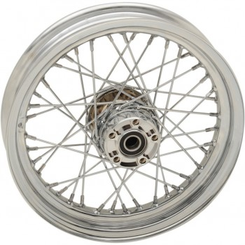 "WHEELS REPLACEMENT LACED REAR 40 SPOKES 16"" x 5"" W/O ABS CHROME FOR HARLEY DAVIDSON TOURING '09-'18"
