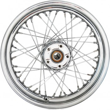 "REAR WHEELS REPLACEMENT LACED 40 SPOKES 17""x 4.5"" W/O ABS CHROME FOR HARLEY DAVIDSON FXD DYNA '08-'17"
