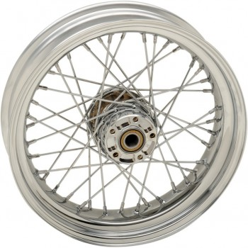 "REAR WHEELS REPLACEMENT LACED 40 SPOKES 16"" X 3"" W/O ABS CHROME FOR HARLEY DAVIDSON XL SPORTSTER '08-'18"