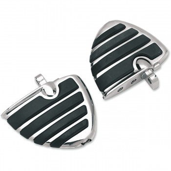 DRIVER FLOORBOARDS MINI COMFORT ISO® WINGS CHROME FOR TRIUMPH MOTORCYCLE