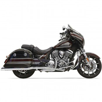 "COMPLETE EXHAUSTS SYSTEM BASSANI 4"" TRUE DUALS CHROME FOR INDIAN CHIEFTAIN/ROADMASTER '14-'18"