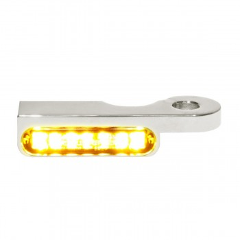 MINI CHROME TURN SIGNALS LED EU APPROVED FOR HANDLEBAR HARLEY DAVIDSON FXST FLST SOFTAIL '87-'17
