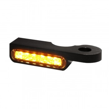 MINI BLACK TURN SIGNALS LED EU APPROVED FOR HANDLEBAR HARLEY DAVIDSON FXST FLST SOFTAIL '87-'17