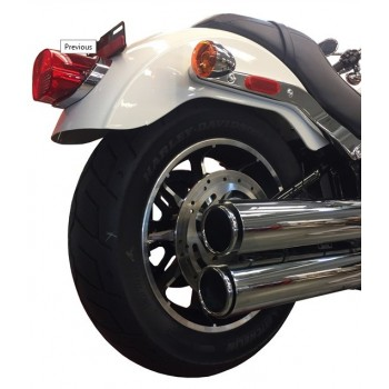 "MUFFLERS TAB SLIP-ON 3.5"" LONG SLIP-ON CHROME FOR HARLEY DAVIDSON SOFTAIL M8 2018"
