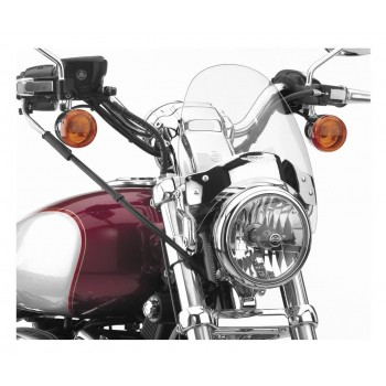 FLYSCREEN MINI WINDSHIELD CLEAR FOR INDIAN SCOUT '15-'18