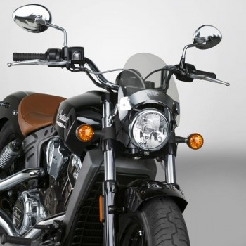 FLYSCREEN MINI WINDSHIELD DARK TINT FOR INDIAN SCOUT '15-'18