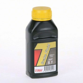 BRAKE FLUID TRW DOT 5.1 250 ML FOR MOTORCYCLE AND HARLEY DAVIDSON