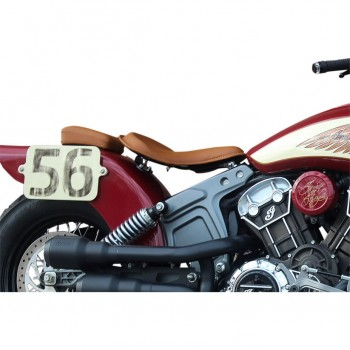 BROWN SOLO SEAT KLASSIC RETRO™ FOR INDIAN SCOUT/SCOUT SIXTY '15-'18